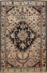 Antique Traditional Hand-knotted Geometric Tribal Area Rug Oriental Carpet 5x7