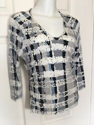 St John Pull Over Casual Top Sz P $25.65