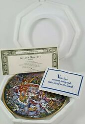 Golden Moments Bill Bell Mcdonalds Plate The Franklin Mint With Certificate