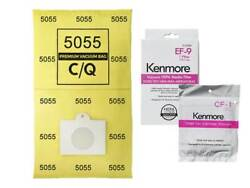 12 Bags For Kenmore Elite Canister Vacuum Cleaner 5055 C Ef9 Cf1 Filter