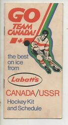 1972 Team Canada Summit Series Ussr Labattand039s Hockey Kit And Schedule Team Rosters
