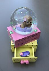 """2x Precious Moments """"sole Sisters Together Forever"""" Mini Waterball Snow Globes"""