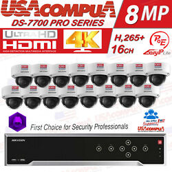 Hikvision Nvr Kit 16 Ch 16 Poe 4megapixel Wd Purple 4mp Ip Camera Poe 3axis