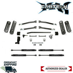 Fabtech 3 Trail Lift Kit System W/ Stealth Shock For 2018-2020 Jeep Wrangler Jl