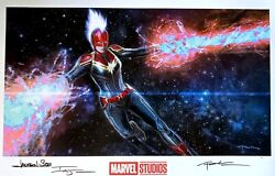 Captain Marvel Limited Print Signed By Andy Park Grey Matter Art