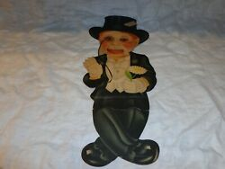 Vintage Charlie Mccarthy Ventriloquist Cut-out Cardboard Dummy. Eyes/mouth Move
