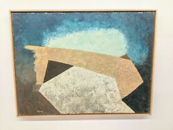 Vintage 1961 Robinson Murray Mid-century Abstract Painting Boston Expressionist