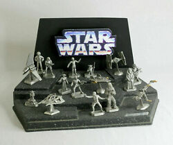 Vintage Star Wars Lot - Rawcliffe Pewter Collection + Rare Promotional Display