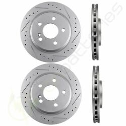 Drill And Slotted Front And Rear Brake Rotors Fits 2004-2006 Mercedes-benz E500