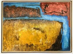 Vintage 1969 Robinson Murray Mid-century Abstract Painting Boston Expressionist