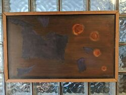 Vintage 1967 Robinson Murray Mid-century Abstract Painting Boston Expressionist