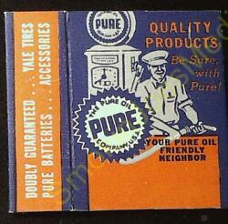 Vintage The Pure Oil Company Usa Pac-jac Tm Keep Matches And Cigarettes Together
