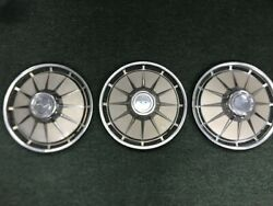 1960 - 63 Corvair 13 Hubcaps Used Set Of 3
