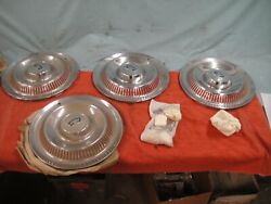 1953-55 Corvette Hubcaps And Spinners Nos
