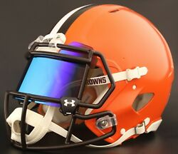Cleveland Browns Nfl Authentic Gameday Football Helmet W/under Armour Eye Shield