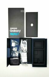 Verizon Samsung Galaxy Note 7 64gb Box With Accessories And All Contents