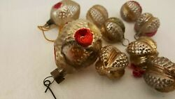 Vintage Glass Christmas Ornaments Lot Of 9