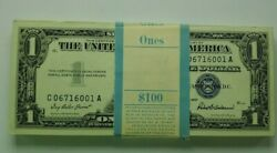 1957 Us 1 Silver Certificates - Consecutive Set Of 100