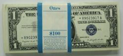 1957a Us 1 Silver Certificates - Consecutive Set Of 99 + 1 For Total Of 100