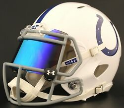 Indianapolis Colts Authentic Gameday Football Helmet W/ Under Armour Eye Shield