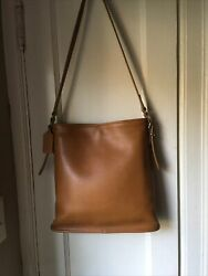 Coach Bucket bag purse Slim Equestrian 9806 leather Legacy Desert Sand $39.99
