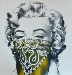 Mr. Brainwash - Stay Safe - Marilyn Monroe Yellow -signed, Numbered -sold Out