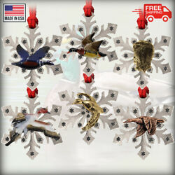 Pewter Duck Snowflake Christmas Tree Ornaments Made In The Usa