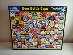 White Mountain 1000pc. Puzzle Beer Bottle Caps 24in X 30in - New