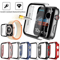 For Iwatch Apple Watch Series Se 6 5 4 40/44mm Full Screen Protector Cover Case