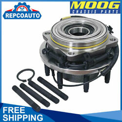 4wd Front Mooog Wheel Bearing And Hub For Ford F-250 F-350 F-450 F-550 Super Duty