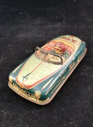All Original New X-car N° 2 Tin Toy Car Wind Up Made In Japan 1950's