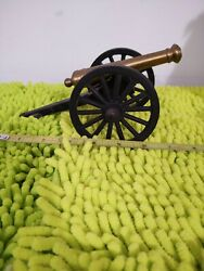 Vintage Cast Iron And Brass Cannon