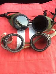 Vintage Glasses + Cutting Torch Safety Goggles Steampunk Motorcycle Aviator Wwii