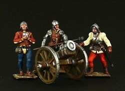 Tin Soldier, Collectible, Medieval Artillery Band, Xv C., 54 Mm, Medieval Europe