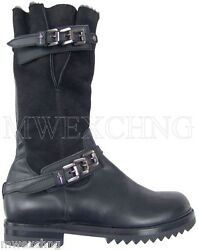 Cesare Paciotti Luxurious Shearling Boots Us 8 Italian Designer Mens Shoes