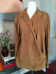 Brown Suede Blouse Top Shirt 2676-2-101020