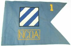 Official Military Theatre Made Army 3rd Infantry Ncoa Authentic Guidon Flag I3
