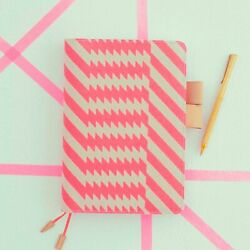 2021 Hobonichi A5 Cover Only mintdesigns: Zig Zag Pink FREE PENS AU $116.95