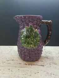 Jay Willfred Andrea By Sadek Ceramic Grapes Pitcher For Water, Sangria, Juice