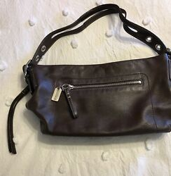 Coach Leather Hobo Purse Brown $45.00