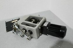 New Bodine 115v 1/4hp 1201 Gear Reduction Motor And Custom Gear Assembly Housing