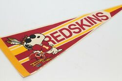 United Feature Syndicate Wincraft 1958-71 Washington Redskins Nfl Snoopy Pennant