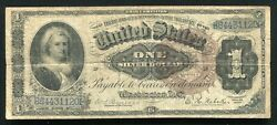 """Fr. 220 1886 1 One Dollar """"martha"""" Silver Certificate Currency Note Very Fine"""