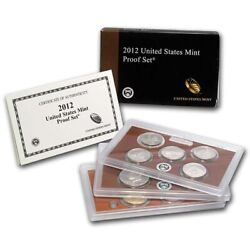 2012 S Us Mint Proof Set Ogp Box And C.o.a. 14 Coins Low Minatage Key Date Coins
