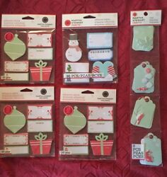 Lot Of 50 Christmas Treat Boxes, Labels, Tags, Bows, Stamps, More, Multi-brand