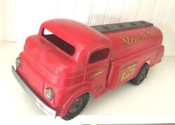 Vintage Pressed Steel Toys -structo 66- Truck Toyland Oil/ Gas 1950's Red