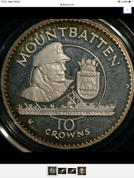 Lord Mountbatten 1980 Turks And Caicos Silver Piedfort Rare Only 400 Struck
