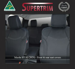 Mazda Bt50 Tf 2021-now Neoprene Seat Covers Front Full-back Map Pockets + Rear
