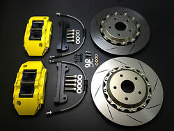 Toyota Camry 2012-17 Brake Pad Kit Disc 330mm 13 Rotors 6 Piston Calipers Front