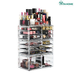 YITAHOME Cosmetic Organizer Makeup Box Drawers Case Jewelry Storage 4 Piece $19.99
